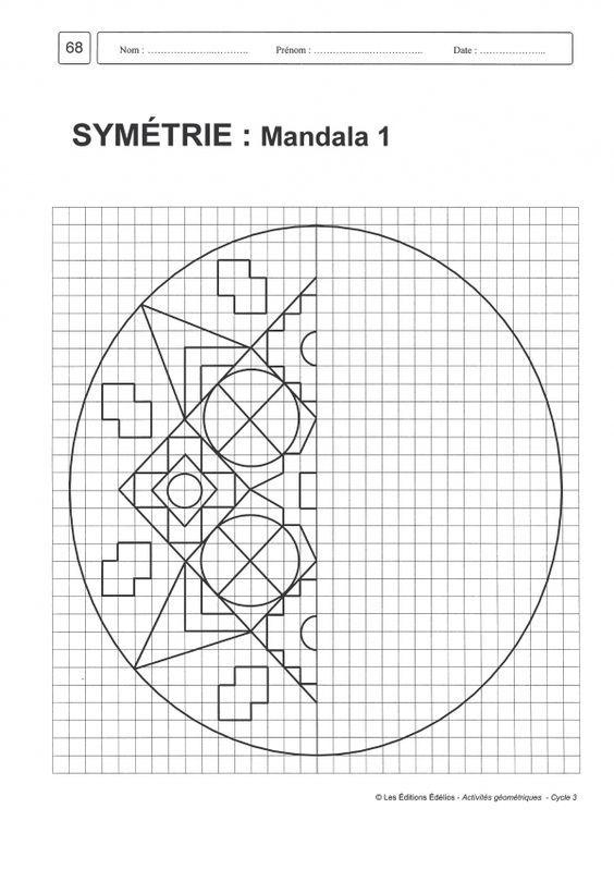 R sultat de recherche d 39 images pour g om trie cycle 3 maths cm2 g om trie cycle 3 cycle - Mandalas cycle 3 ...