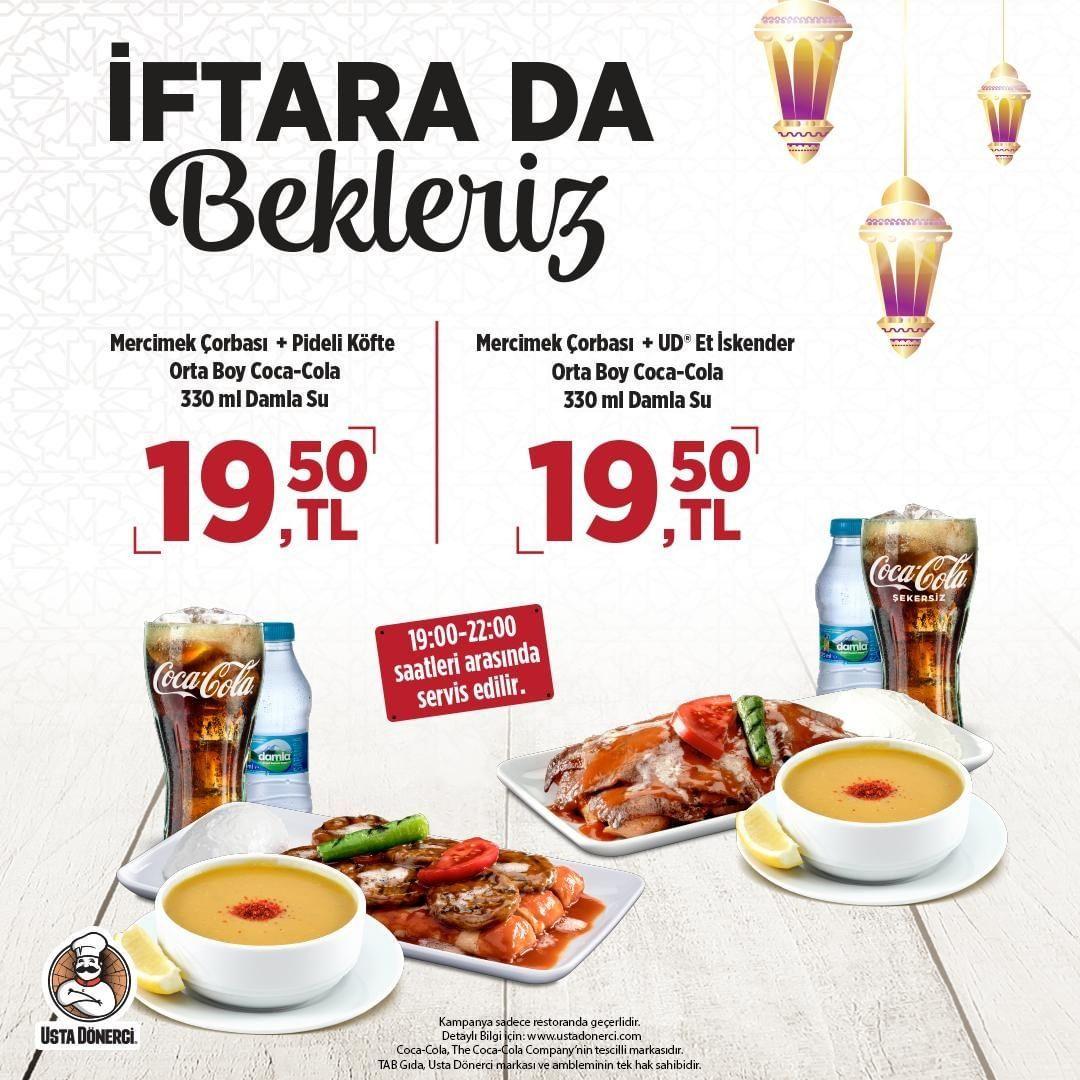 Usta Donerci Iftar Menusu Kampanyasi Fiyatlari Http Bit Ly 2wegjzm Iftar Gida Mercimek Corbasi