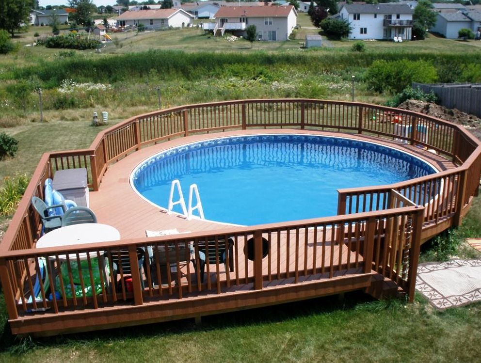 Above Ground Pool Deck Designs Ideas Yard Pinterest