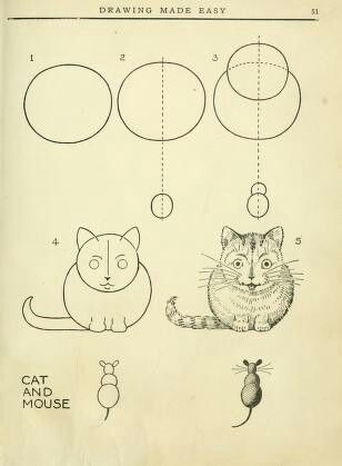 Gato Y Raton Easy Drawings Drawings Book Drawing