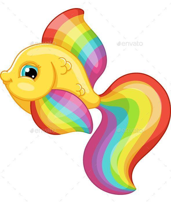 regenbogenfische  tiercharaktere mit bildern