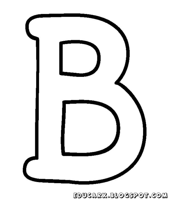 Molde da letra maiúscula B | Proyectos que intentar | Pinterest ...