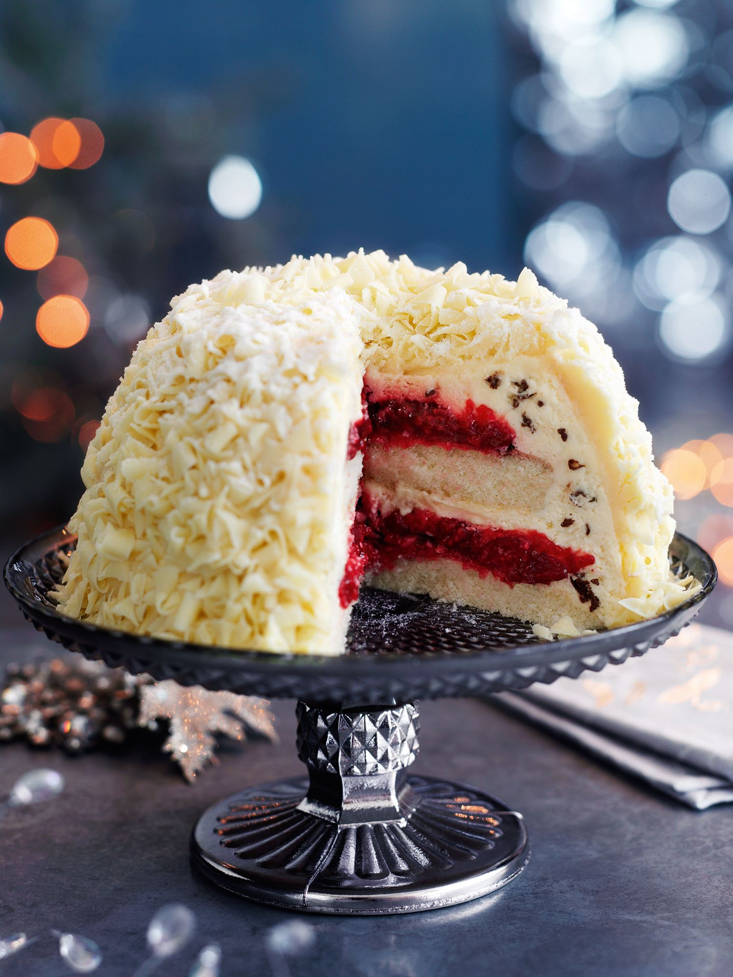 White Chocolate Snow Bombe Christmas Decorations Recipes Gifts