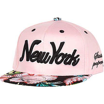 Girls pink NY floral snapback hat £8.00  4550187bdb7