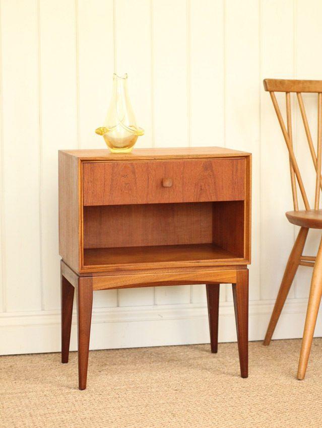 Best Vintage Retro Teak Bedside Cabinet Mid Century Antique 400 x 300