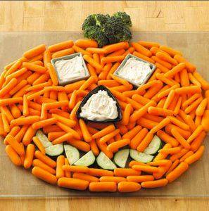 Entrada de zanahorias en forma de calabaza!