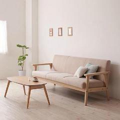 620 08 Simple Detachable Small Sofa Small Single Solid Wood Sofa Combinationfurniture Minimalist Sofa Minimalist Living Room Japanese Living Rooms
