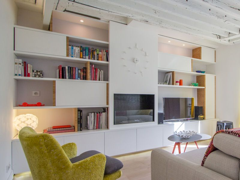 le plein d 39 id es pour une biblioth que originale salons pinterest et. Black Bedroom Furniture Sets. Home Design Ideas