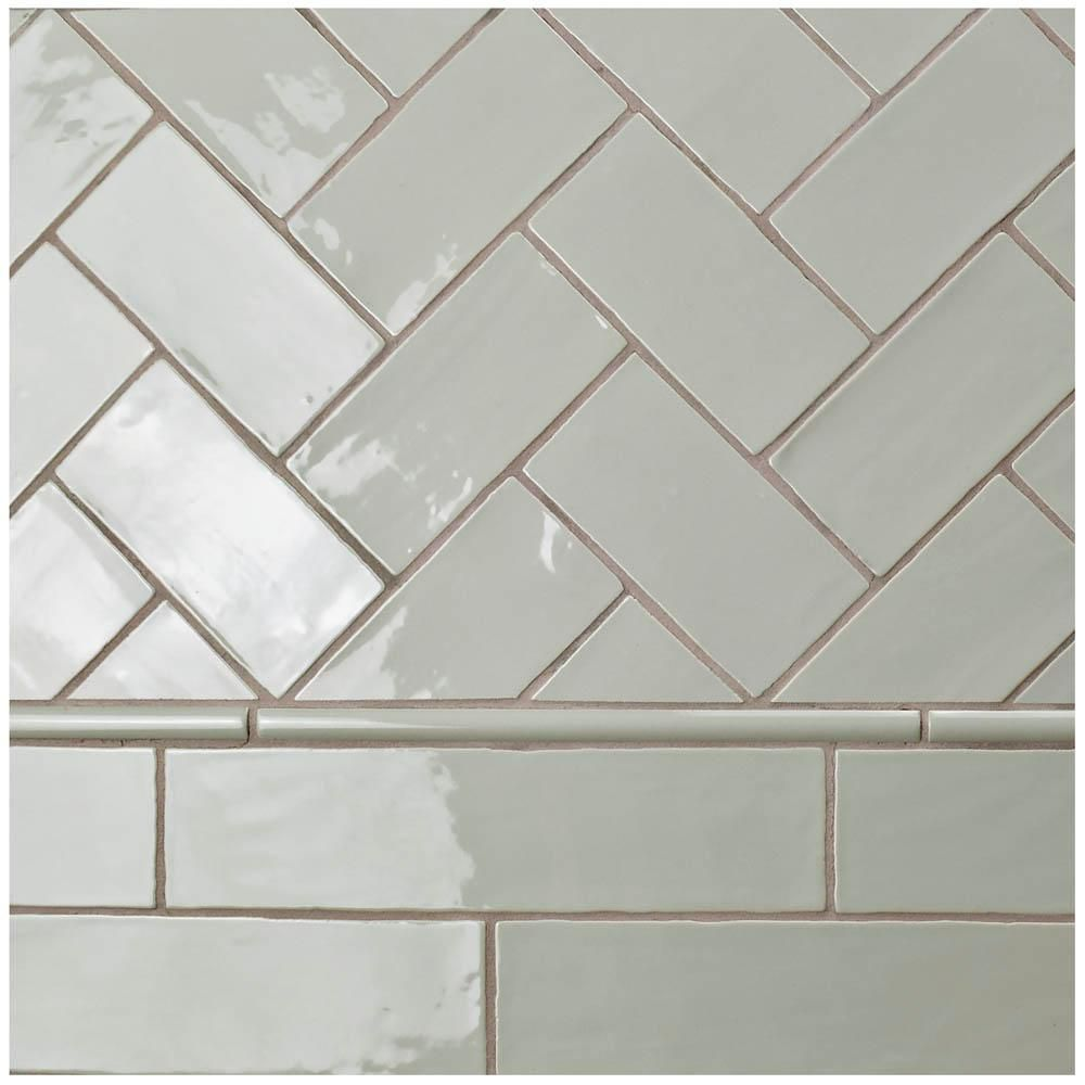 Merola Tile Chester Sage 3 In X 6 In Ceramic Wall Subway Tile 1 Sq Ft Pack Wnu36csg Ceramic Subway Tile Tiles