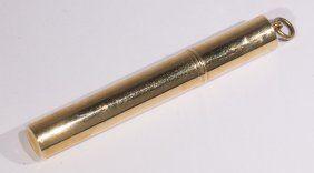 Cartier 14k yellow gold lighter pendant : Lot 2866