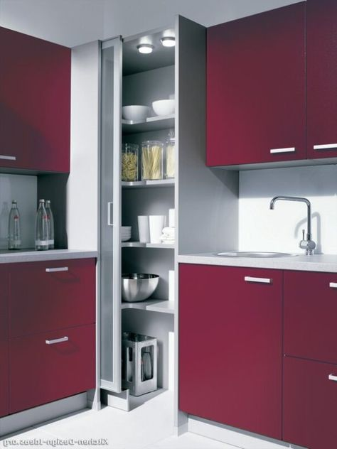 Extraordinary Corner Pantry Cabinet With Red Kitchen Cabinet Paint Also Sliding Glass Pantry Doors And Single Bowl Top Mo Wohnung Kuche Haus Kuchen Kuchenumbau