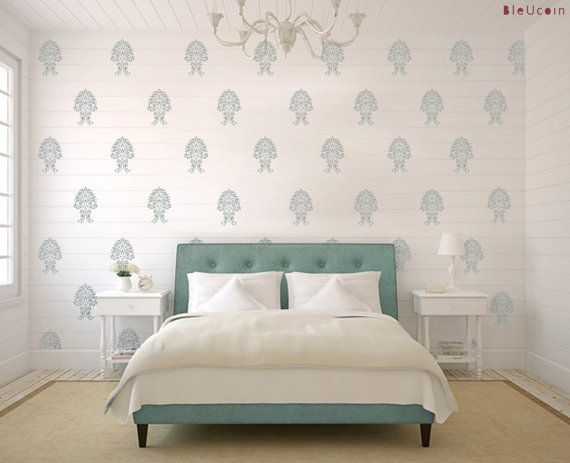 Tile Wall Decal French Geometric Diamond Checkers 44 Pcs Wall Decals Bedroom Decor Home Decor