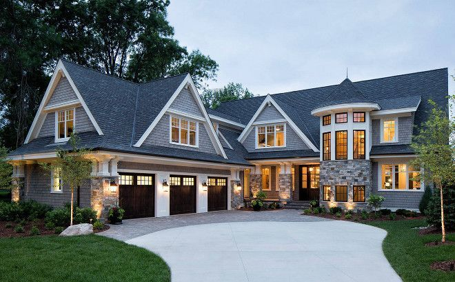 Nice Home Exterior Combines Shingle And Stone Home Exterior Combines Shingle And Sto House Exterior House Designs Exterior Stone Exterior Houses