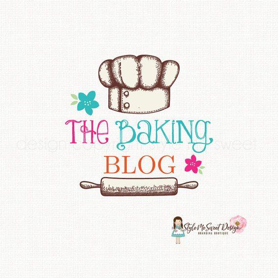 Baking Logo Design Rolling Pin Logo Cooking Blog Logo Bakers Hat