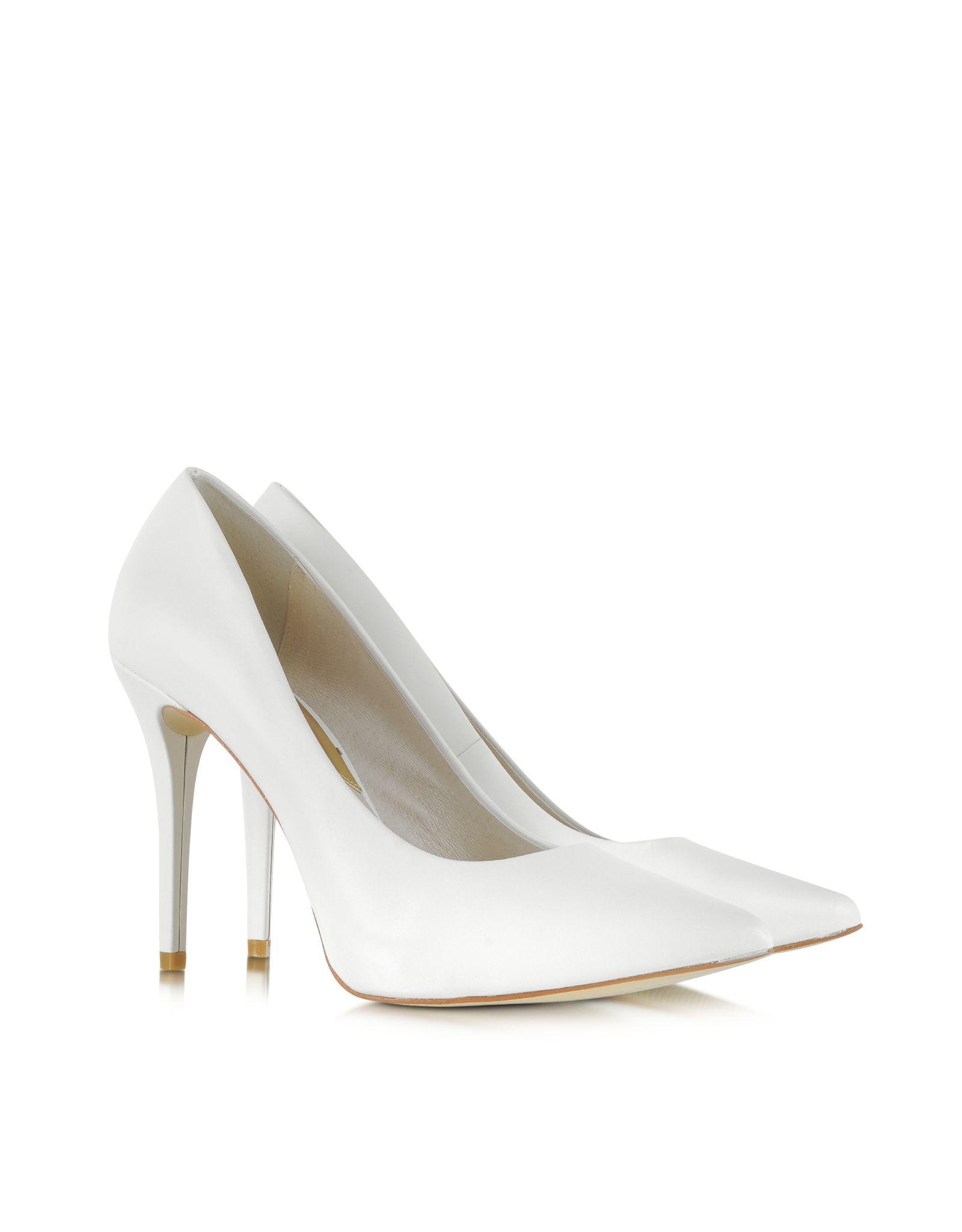 a9de4bcf1e3 ... Pumps 40f3mfmp1a - Michael Kors Joselle Optic White Pointed-Toe Leather  Pump 7M at FORZIERI 210 ...