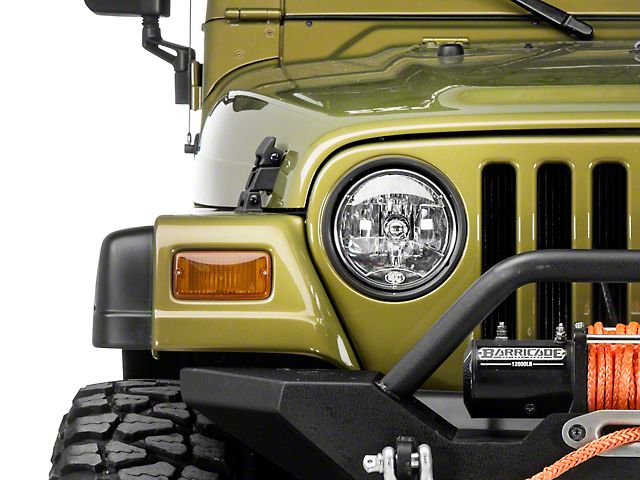 Kc Hilites 7 Inch Headlight H4 Single 97 06 Jeep Wrangler Tj Jeep Tj Wrangler Tj Jeep Wrangler