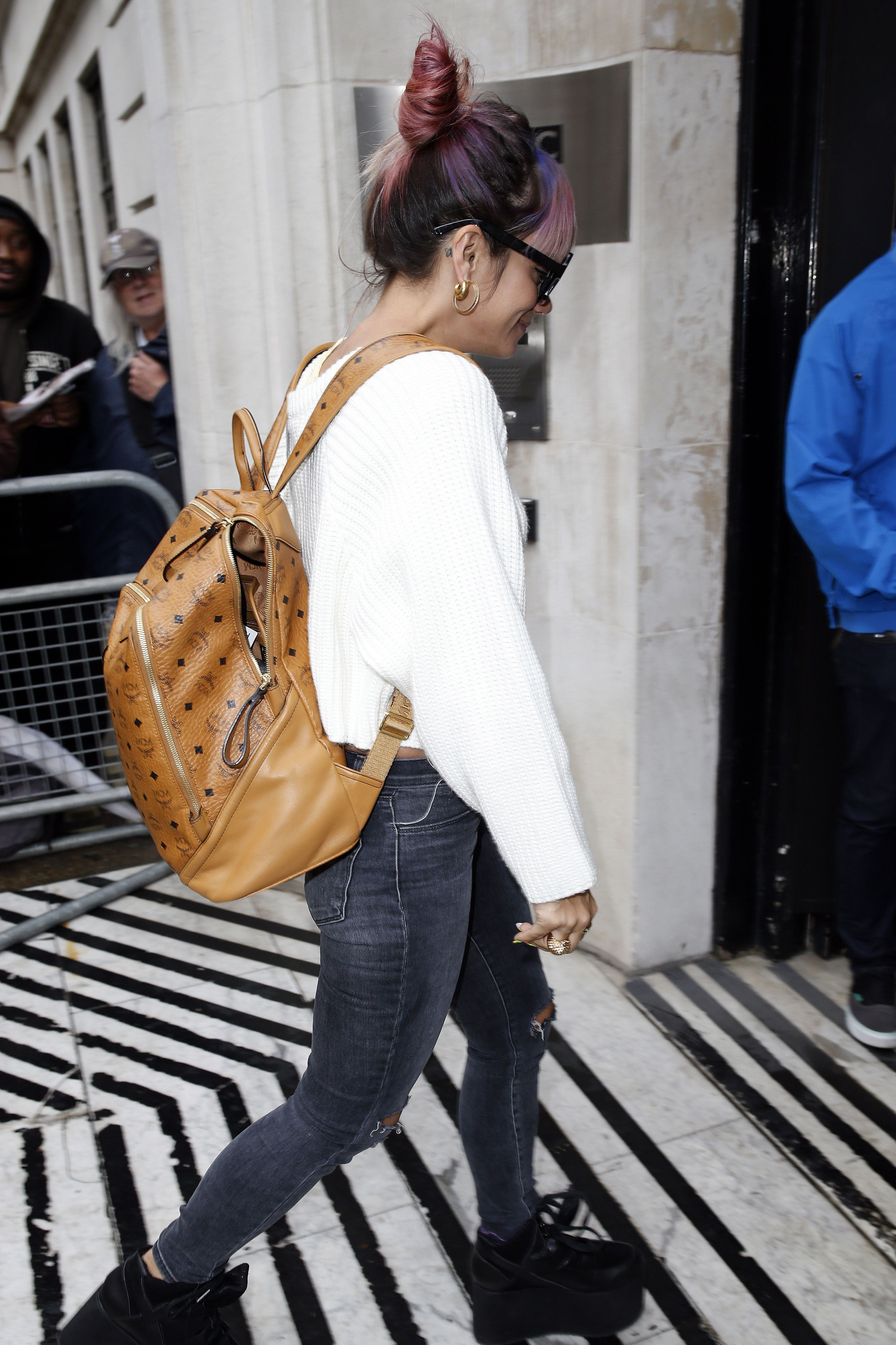 f83f68098c5 14 Times Stylish Celebs Proved Backpacks Aren t Just for School
