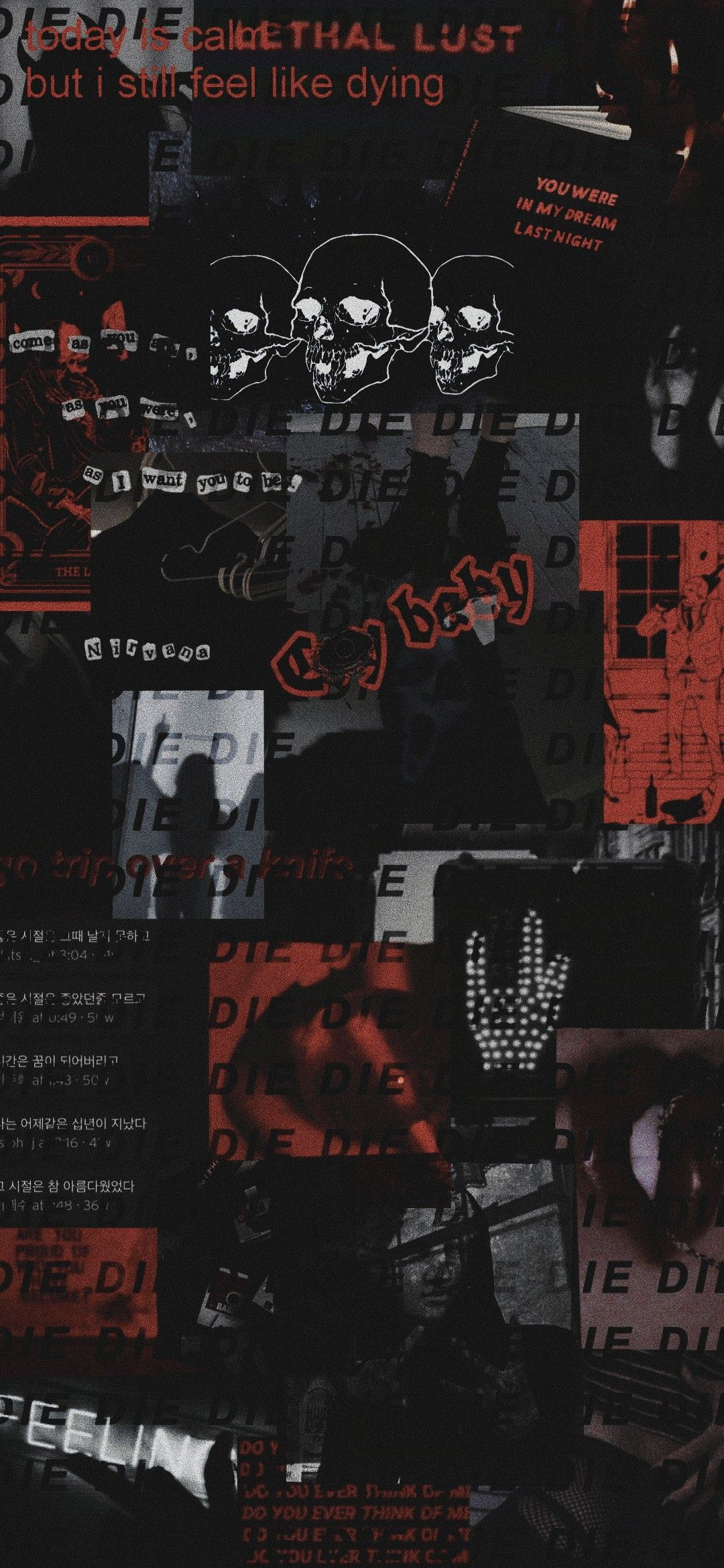 Black And Red Collage Wallpaper Black Aesthetic Wallpaper Iphone Wallpaper Grunge Scary Wallpaper