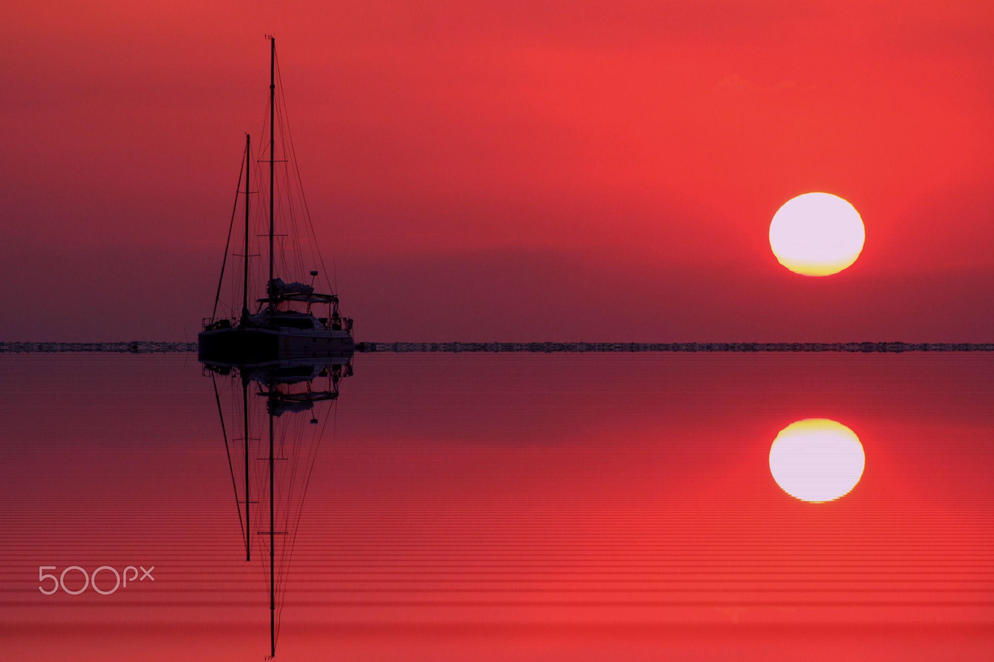 Caye Caulker - Foto do por do sol em Belise.