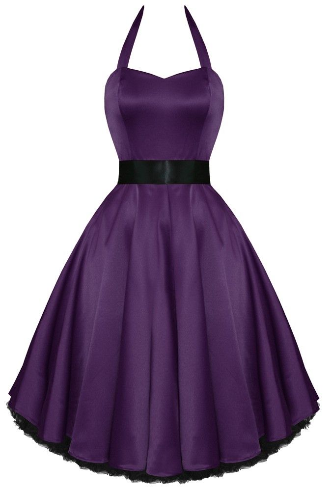 Hearts and Roses // Kelly Dress in Purple Satin - Tragic Beautiful ...