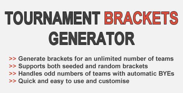 tournament brackets generator code script script coding free