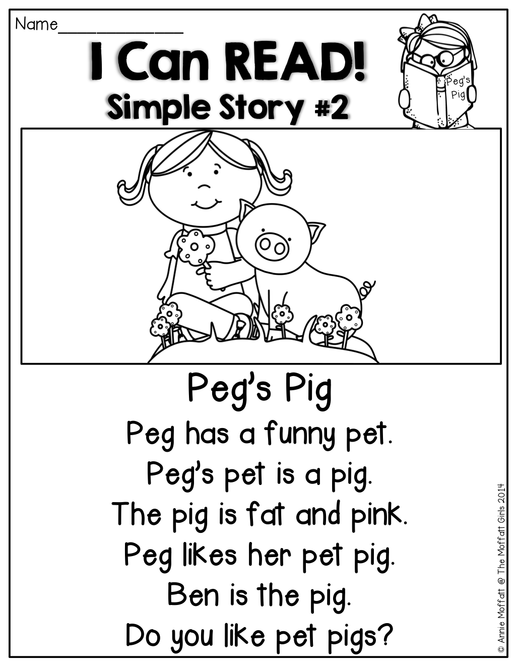 I Can Read Simple Stories And Simple Sentences For Beginning And Or Struggling Readers Each