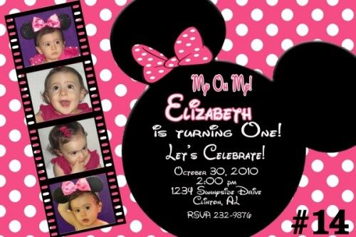 20 printed minnie mouse personalized birthday invitations photo 20 printed minnie mouse personalized birthday invitations photo filmwisefo Images