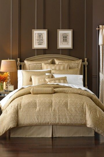 Waterford Anya 4 Piece Comforter Set Pale Gold