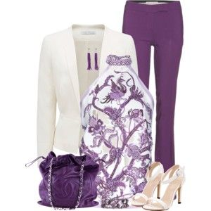 Purple Pants & Blazer by MAGGIE478 on Polyvore