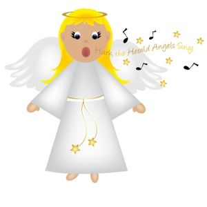 Christmas Angels Images Clip Art.Free Angel Clip Art Image Christmas Angel Singing