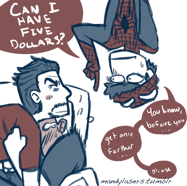 tony stark Steve Rogers peter parker superhusbands Stony SuperFamily MLArt I don