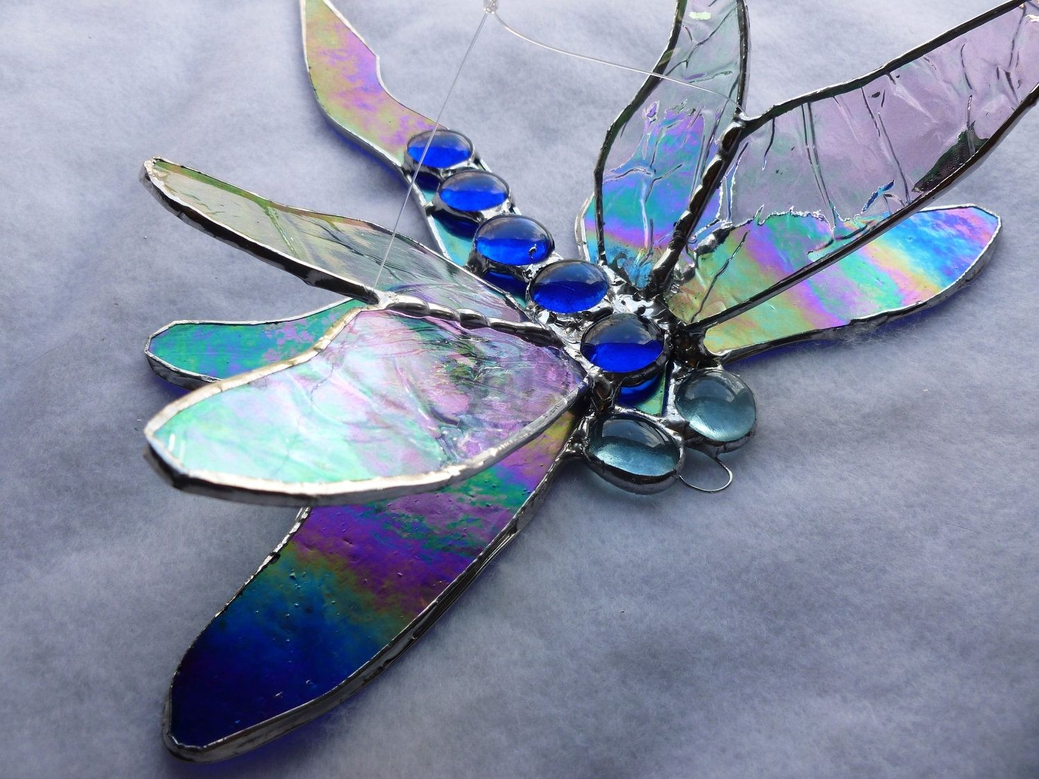 Layered 3d Dragonfly Stained Glass Stained Glass Art Stained Glass