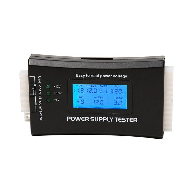 Digital LCD Power Supply Tester PC Computer 20/24 Pin