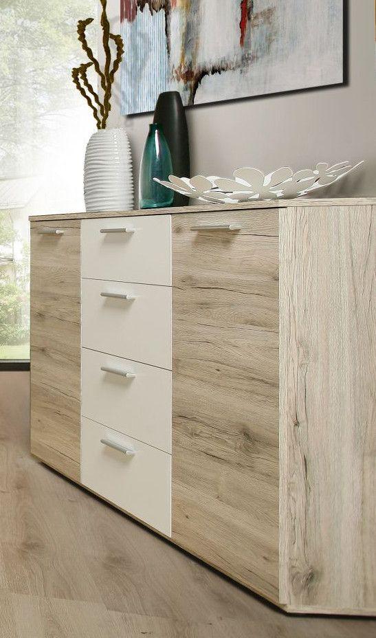 Kommode Sandeiche\/ Weiss Woody 77-00359 modern Jetzt bestellen - wohnzimmer eiche modern