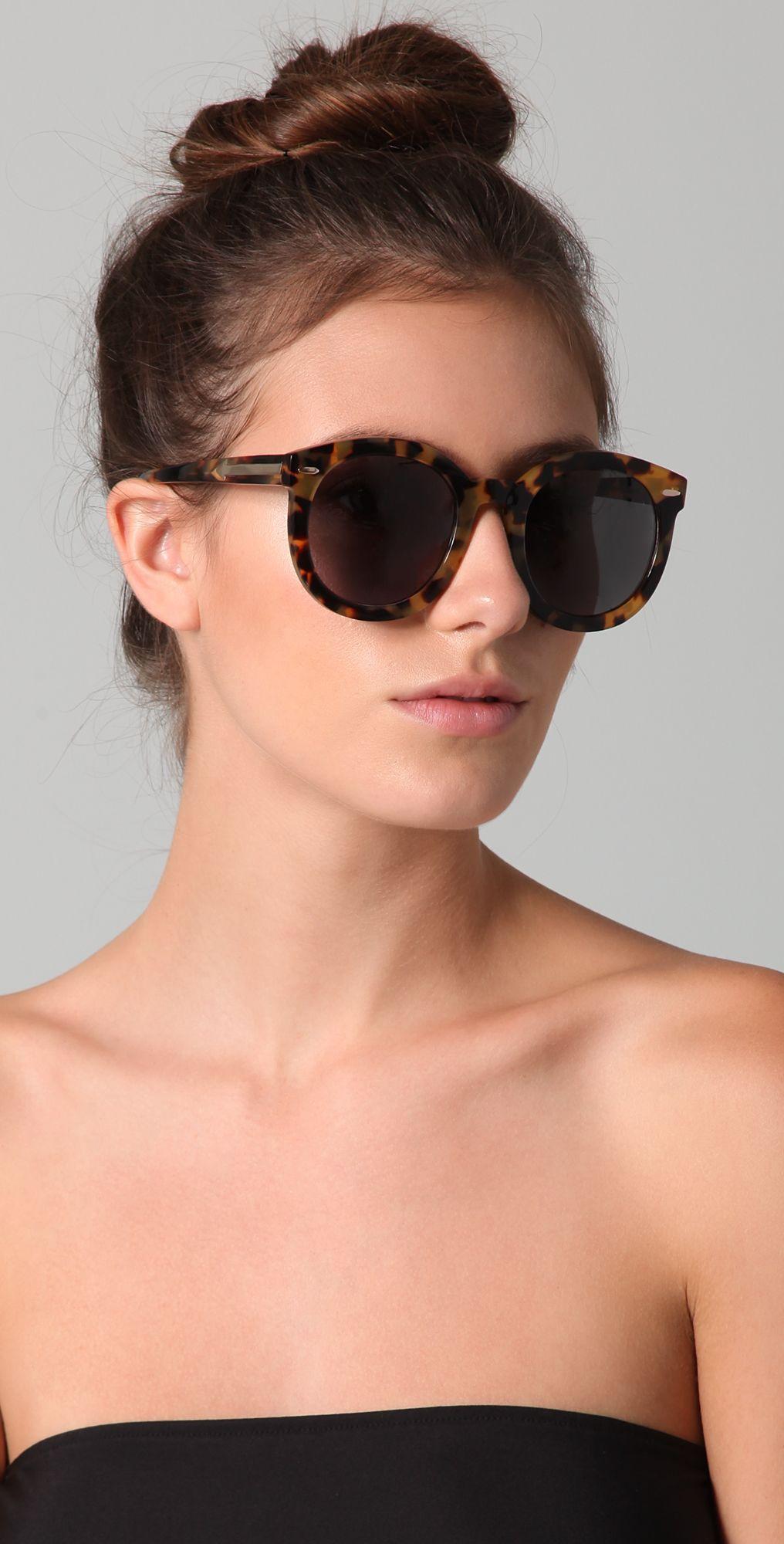 8199495b7d Karen Walker Super Duper Strength Sunglasses in Tortoise
