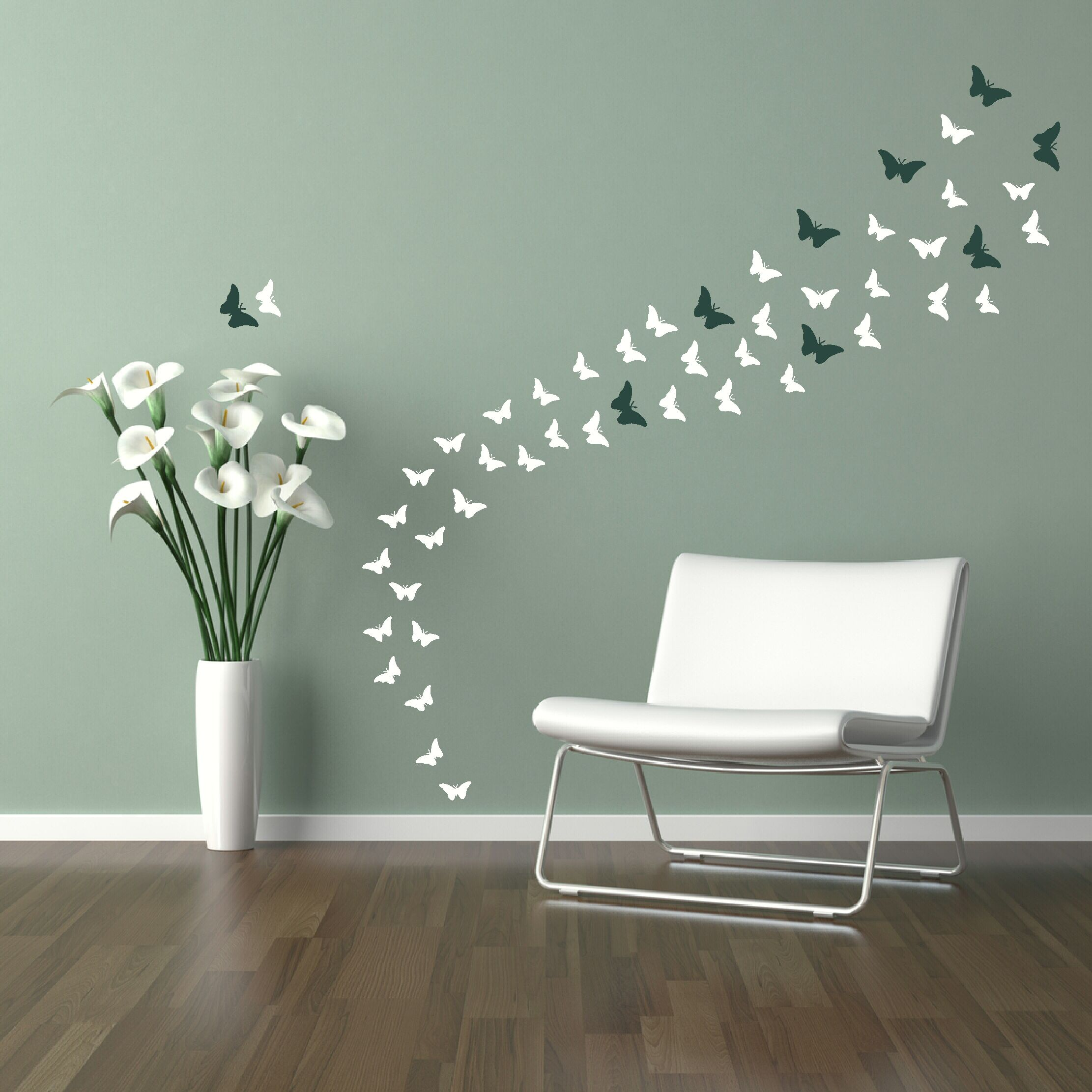 Butterflies Wall Decal Wall Stickers Home Decor Butterfly Wall Decor Interior Wall Design
