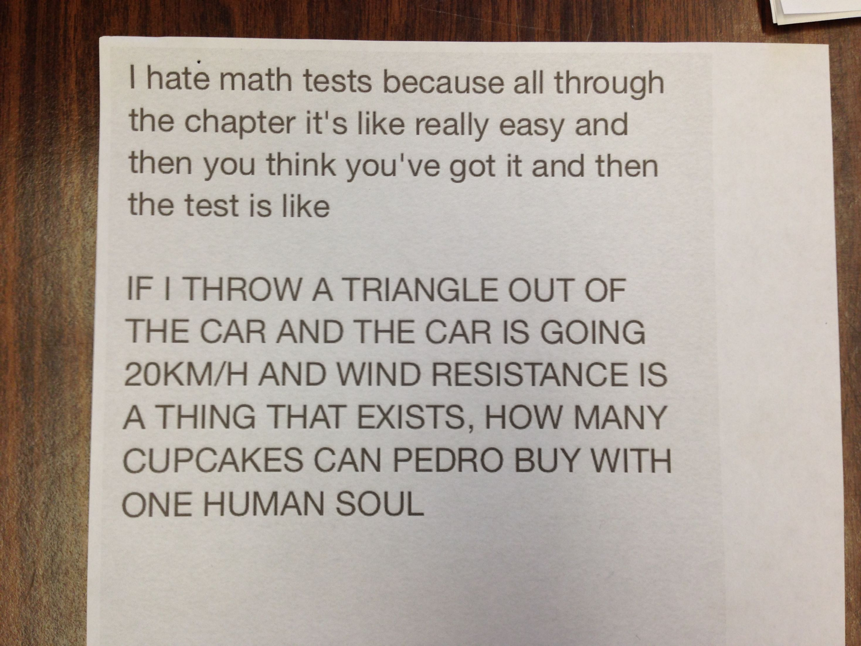 This hilarious note posted on a maths teacher\'s door will have you ...