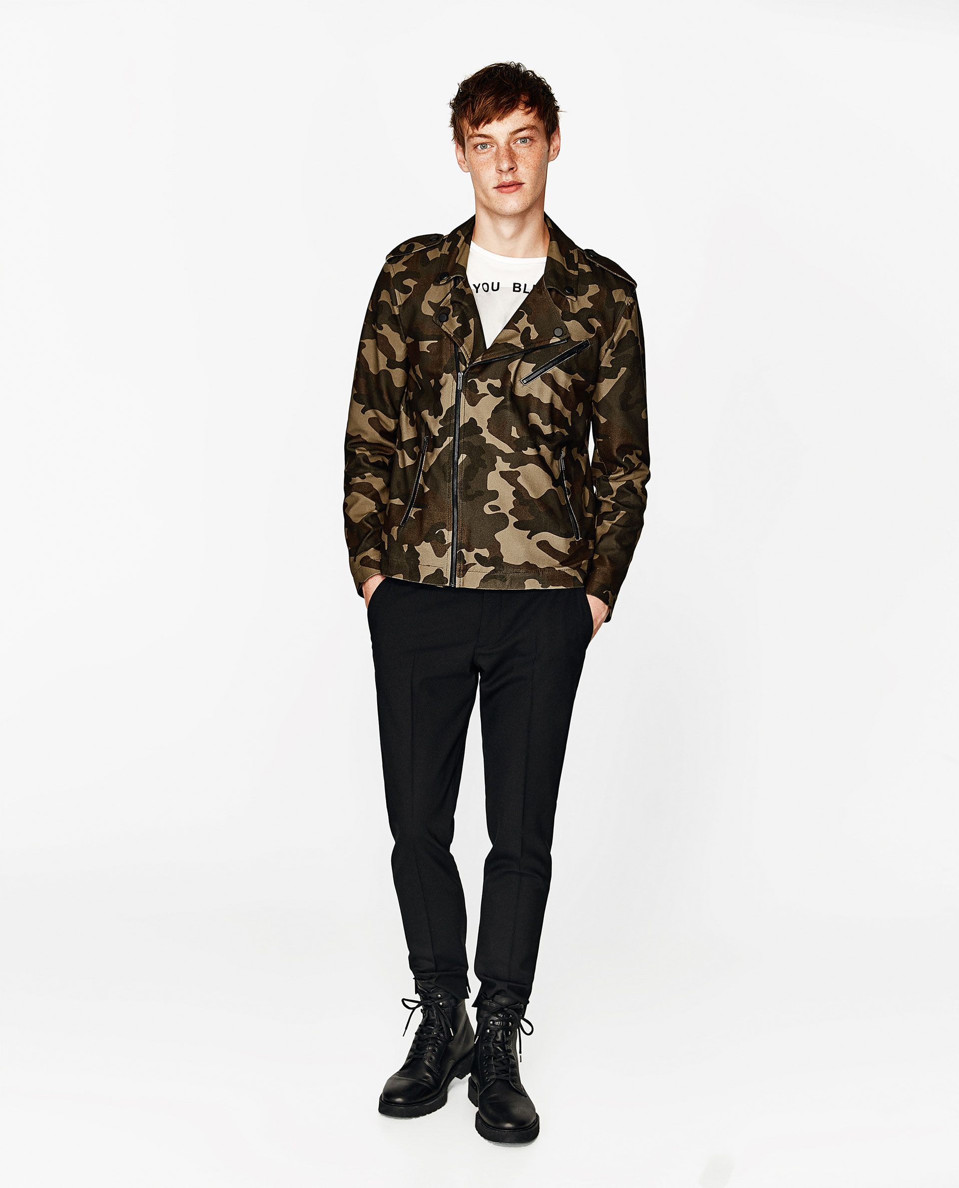 Mens Camouflage Leather Jacket Bomber Style 100/% Lambskin Leather Camo Military