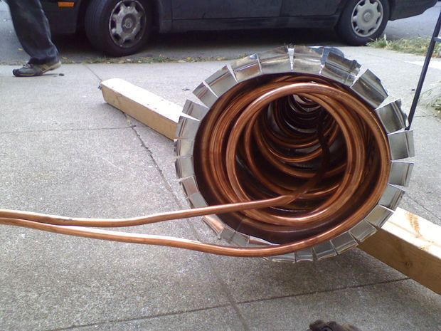 Wood fired ocean hot tub thermosiphon hot tub diy - Homemade swimming pool heat exchanger ...