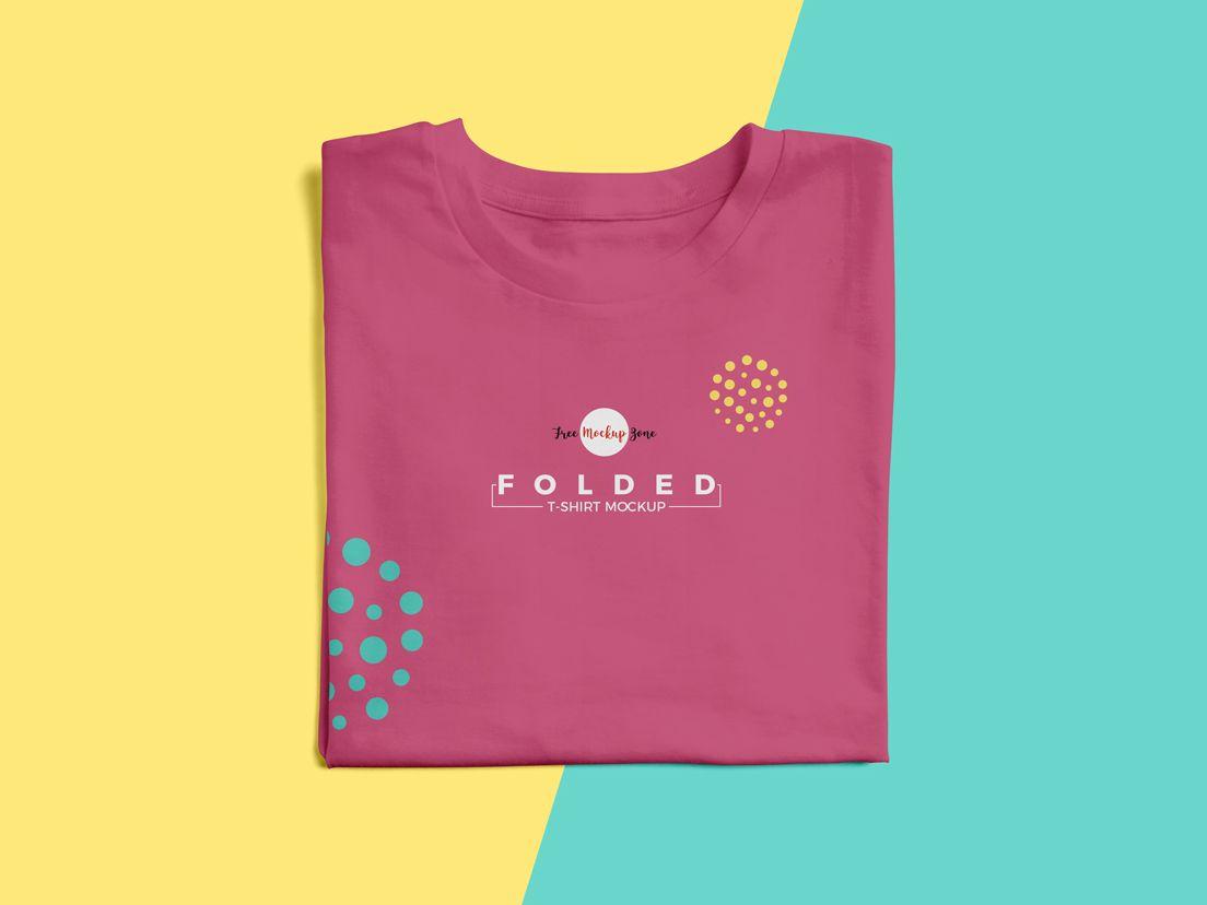 Download Free Folded T Shirt Mockup Psd Shirt Mockup Tshirt Mockup T Shirt