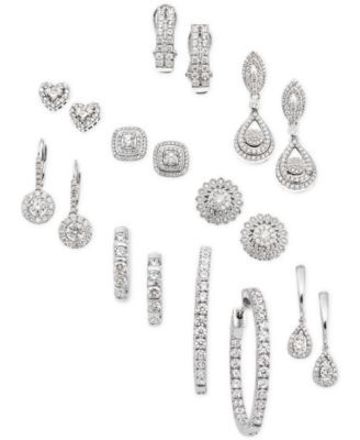 8bd72e55f Wrapped in Love Diamond Dangling Drop Earrings in 14k White Gold (1 ct.  t.w.), Created for Macy's