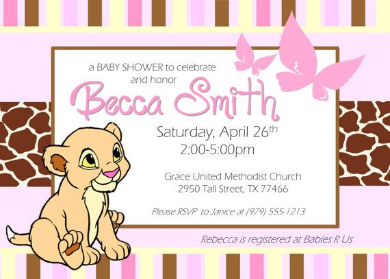 Custom Lion King Nala Baby Shower Digital By Jyeventservices Aaron