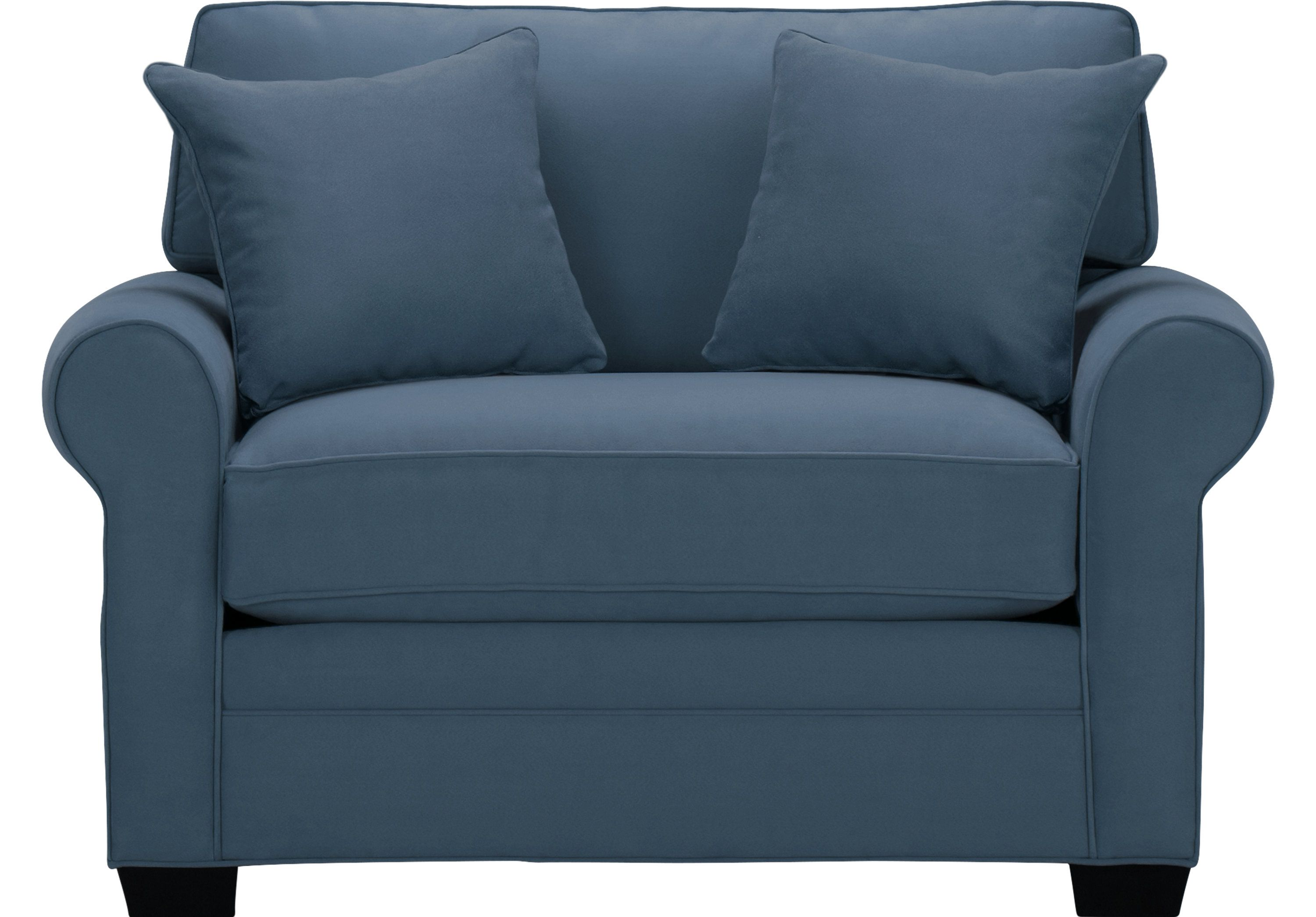 Cindy Crawford Home Bellingham Indigo Sleeper Chair Chairs Blue