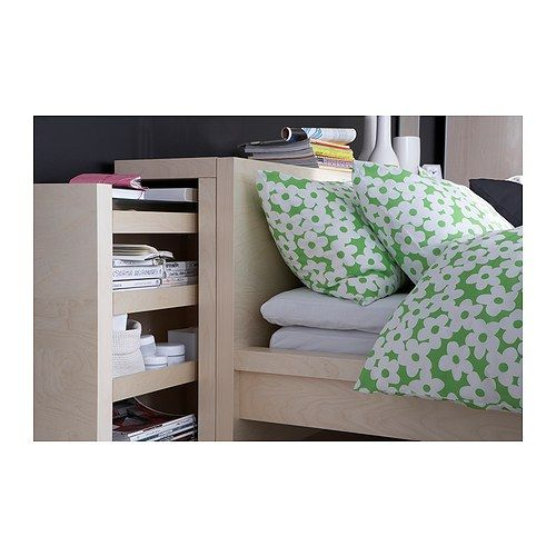 malm t te de lit tablette 3 parties plaqu bouleau 160. Black Bedroom Furniture Sets. Home Design Ideas