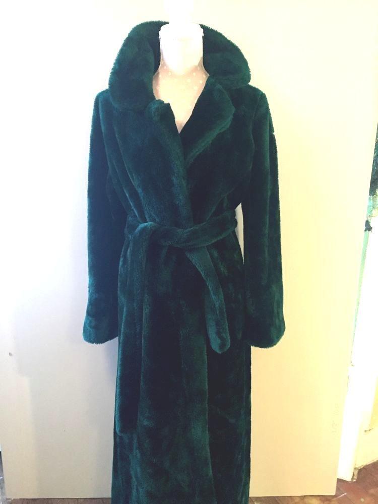 vtg 70 s borg plush bathrobe robe emerald green women s medium euc from   18.0 e9cca4c87