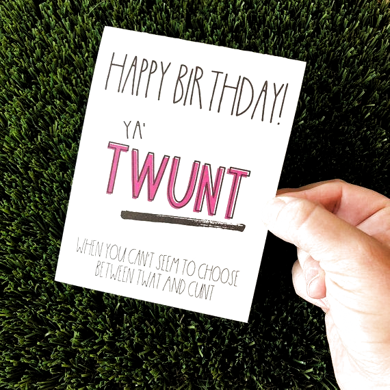 Say Happy Birthday with this hilarious and sarcastic Birthday greeting card for that one
