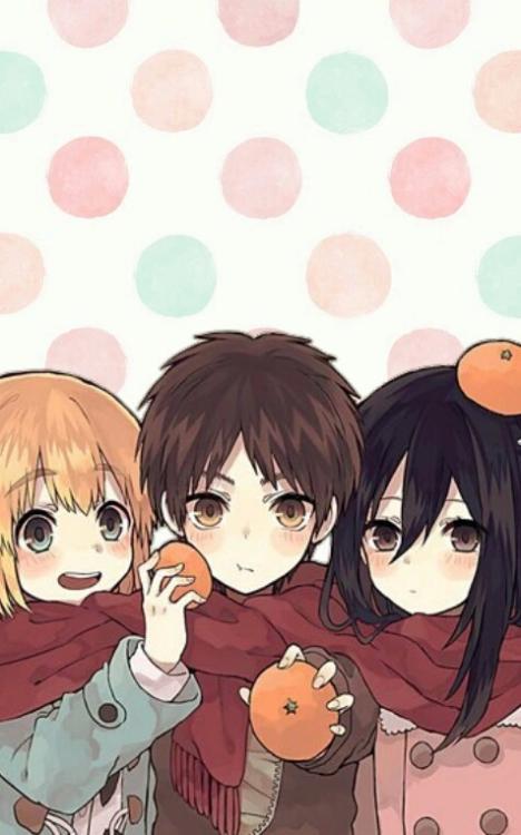 Armin, Eren, & Mikasa - Attack on Titan - Shingeki no Kyojin