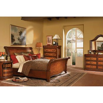 Vineyard 6Piece Cal King Sleigh Bedroom Set  Ninner & Chunk's Stunning Cal King Bedroom Sets Design Decoration