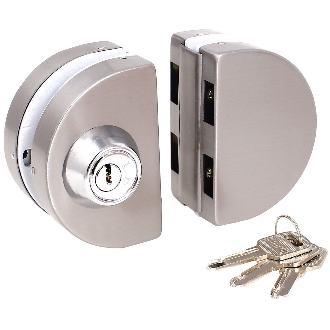 Dhdl Entry Gate 10 12mm Glass Swing Push Sliding Door Lock With Keys Entry Gates Sliding Doors Door Locks