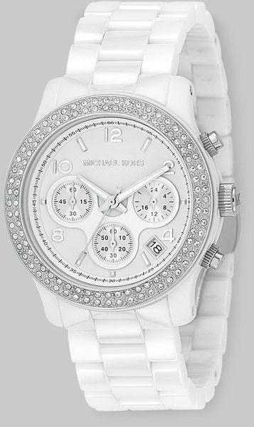 Michael Kors Stainless Steel Ceramic Chronograph Bracelet Watch Ceramic Watch Womens Designer Watches Michael Kors